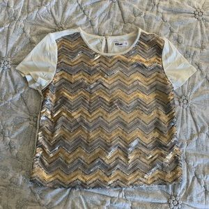 Epic Threads Sequin Top for Girls, Size XL